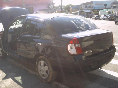 sucata renault clio sedan em partes tudo p/ seu carro c/nota