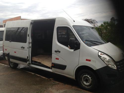 sucata renault master mbus l3h2 2017/2018 diesel 130cvs