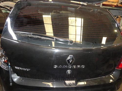 sucata sandero peças motor/portas/lanternas/conj.radiador.