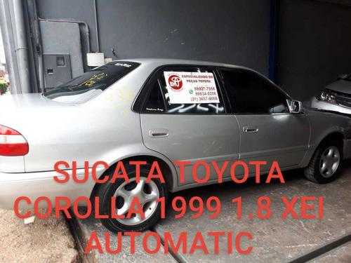sucata toyota corolla xei 1.8 16 v  2001 automático