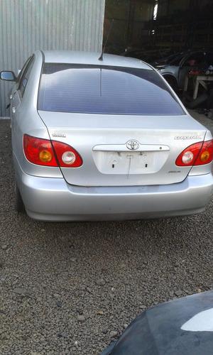 sucata toyota corolla xli 2003/03 1.6 16v automático 110cv