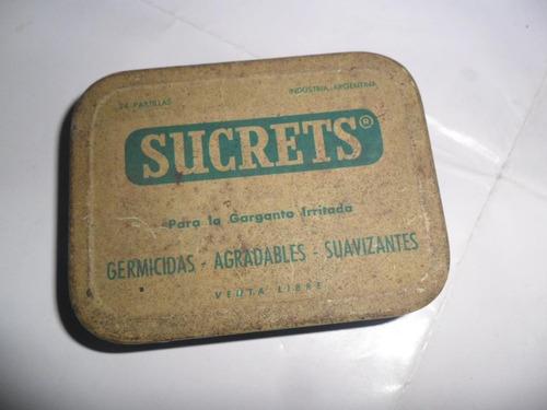 sucrets pastillas lata latita  germicida