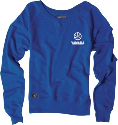 sudadera 100% logotipo yamaha mujer azul/blanco sm