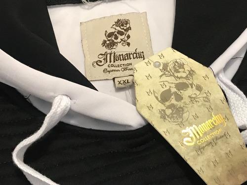 sudadera 2xl blanca marca monarchy tallas extra invierno