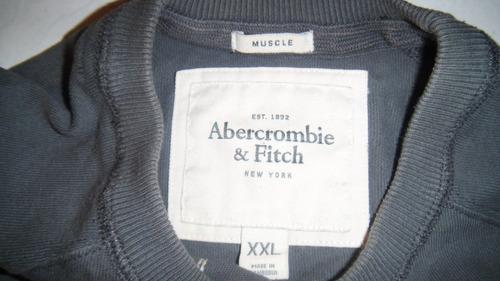 sudadera abercrombie and fitch original xl gris hombre nueva