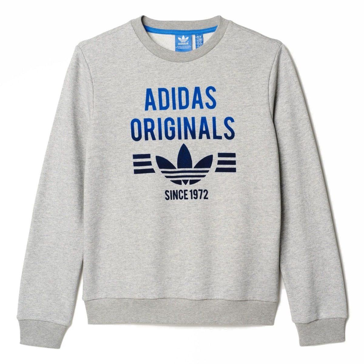 00 Azul Gris Mercado En Adidas Crew 1 050 Libre Sudadera tp1Yxf