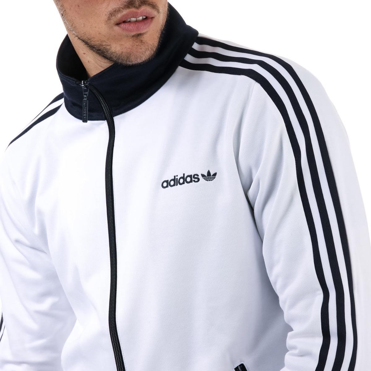 obtener online materiales de alta calidad estilos clásicos Sudadera adidas Hombre Blanca Bbtracktop Br2296 - $ 1,199.00 en ...