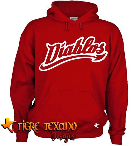 sudadera beisbol diablos rojos méxicoby tigre texano designs