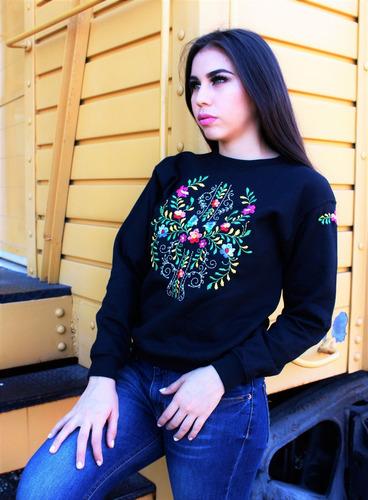 sudadera bordada haydee flores mexicanas