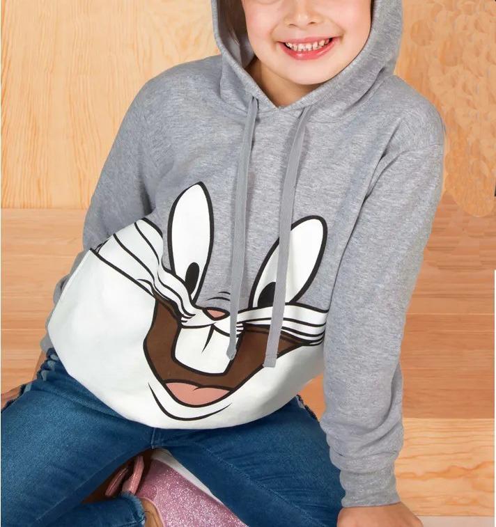 diseño atemporal d1f9a b3d35 Sudadera Bugs Bunny Looney Tunes Niño Niña Licencia Original