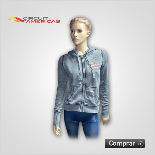 sudadera circuit of the americas para mujer / talla s