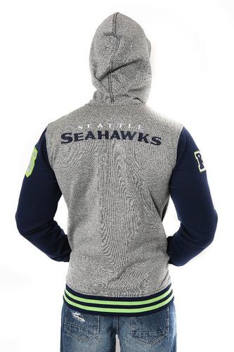 sudadera con capucha de cremallera completa de seahawks con