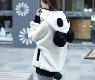 sudadera con capucha panda cute kawaii unisex mujer sueter o