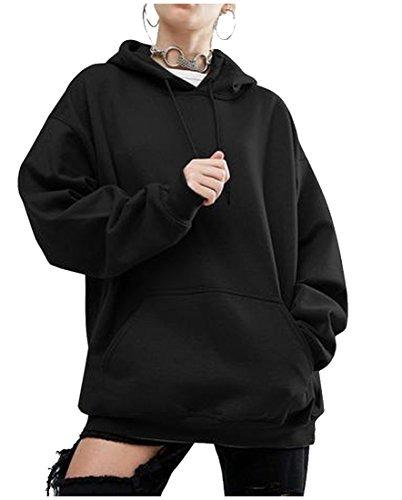 más baratas 20481 c8516 Sudadera Con Capucha Para Mujer Sudadera Negra L