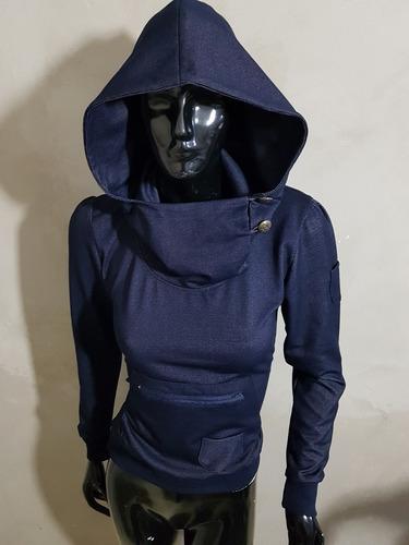 sudadera de mujer azul juvenil bolsa de canguro