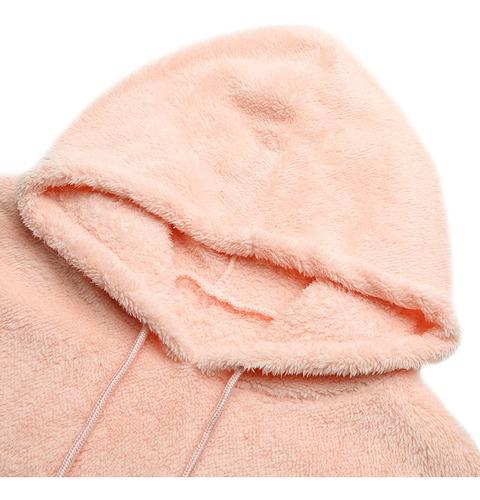 sudadera de mujer de piel sintética, forro polar, con