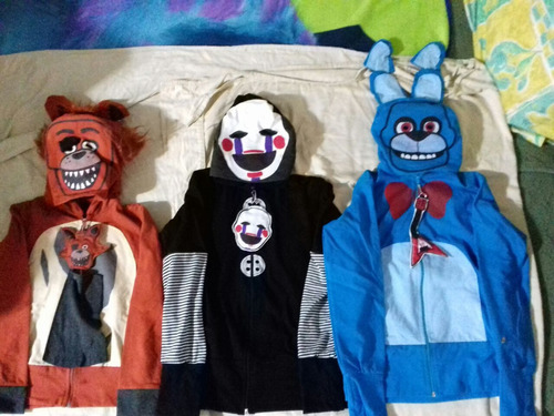 sudadera disfraz personajes five night at freddy's