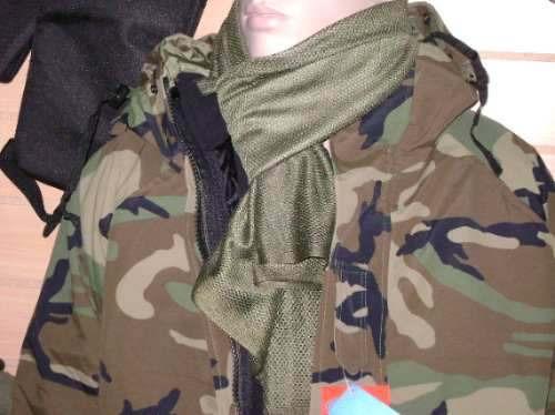 sudadera en red militar para el cuello