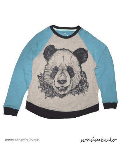 sudadera estampada oso (azul)