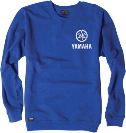 sudadera factory effex logot. yamaha hombre azul/blanco md