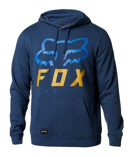 sudadera fox heritage forger azul/electrico casual