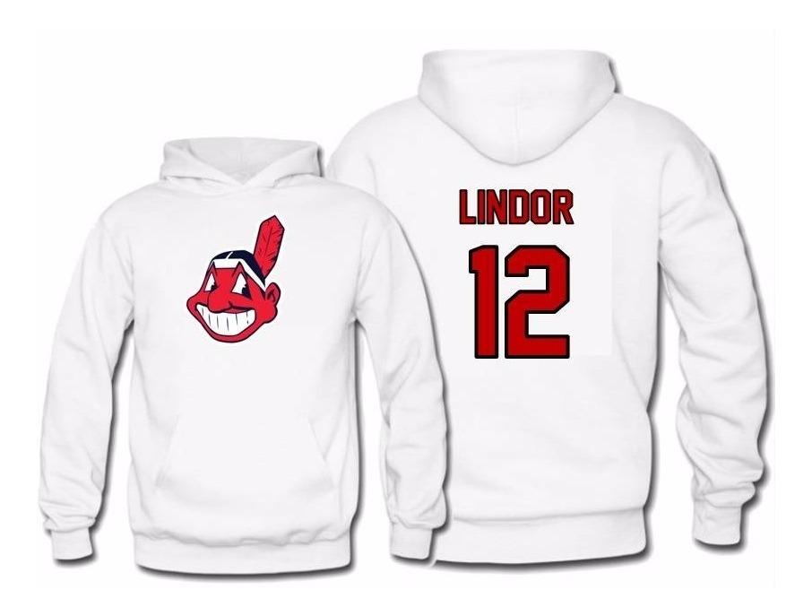 newest 13307 e7c40 Sudadera Francisco Lindor Jersey Cleveland Indians Mlb