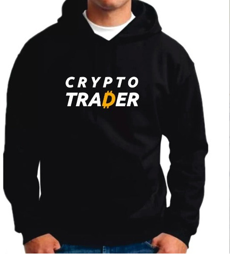 sudadera hoddie bitcoin litecoin cryptotrader envio gratis