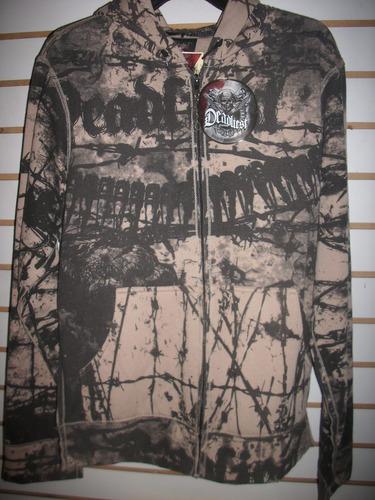 sudadera hoodie marca deadliest talla chica nueva