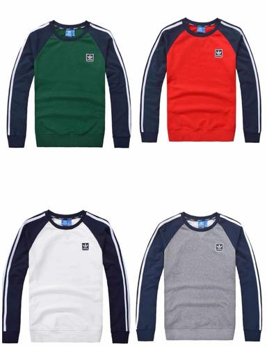 sudadera hoodies adidas colores  mangas marino