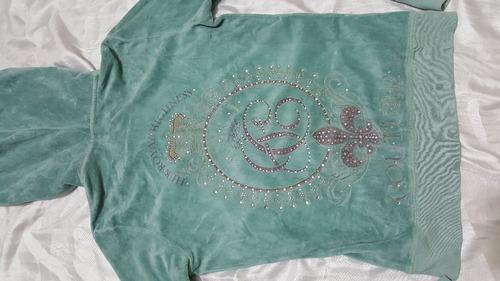 599fd31af349 Sudadera Juicy Couture Azul Tiffany -   280.00 en Mercado Libre