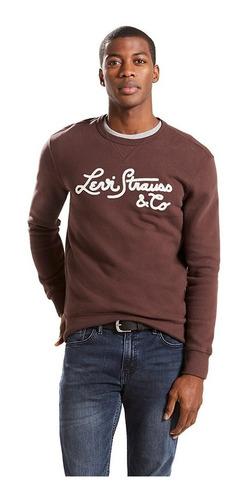 sudadera levi's® hombre graphic crew b cafe 17895-0034