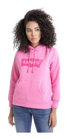 diferentemente 7c28e 9b7e7 Sudadera Levi's® Mujer Rosa Logo Sportswear
