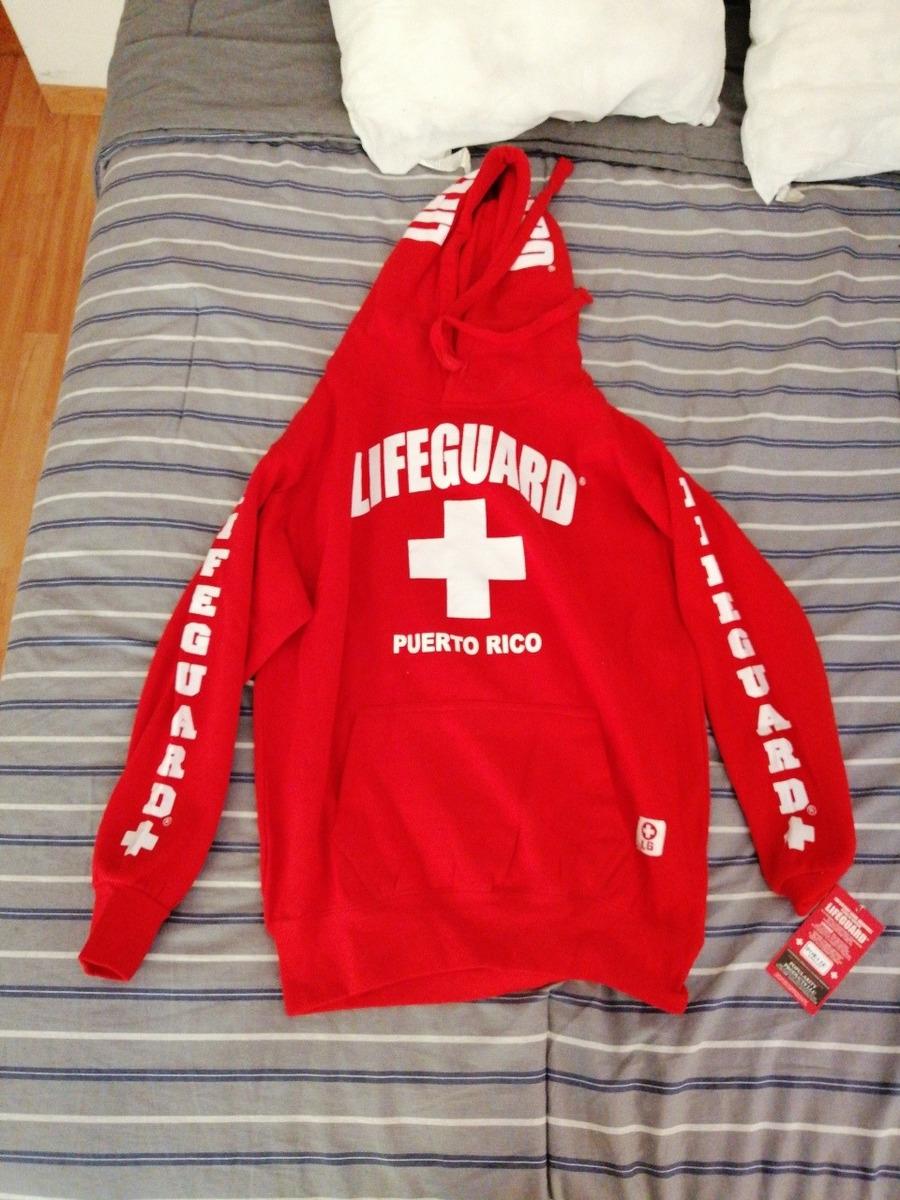 Zapatillas 2018 venta más caliente último descuento Sudadera Lifeguard Salva Vidas Puerto Rico Original