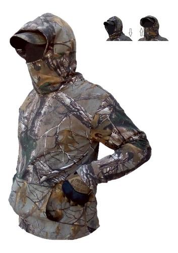 sudadera ligera cubre rostro plegable caceria caza