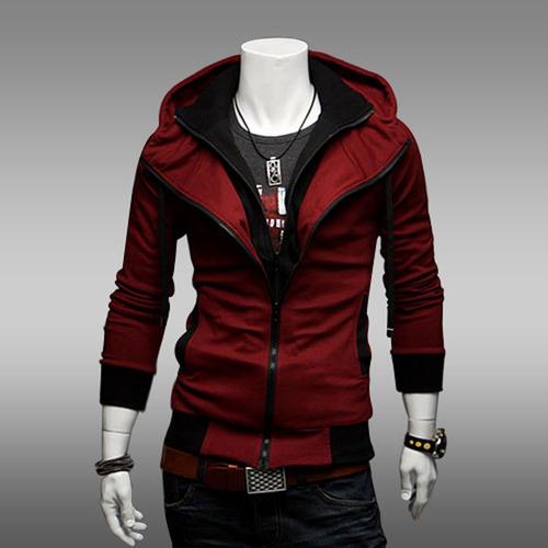 sudadera moda europea slim fit estilo assassins creed