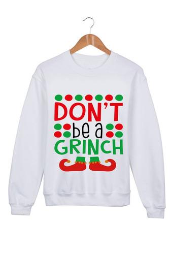 sudadera navideña grinch unisex - no seas un grinch