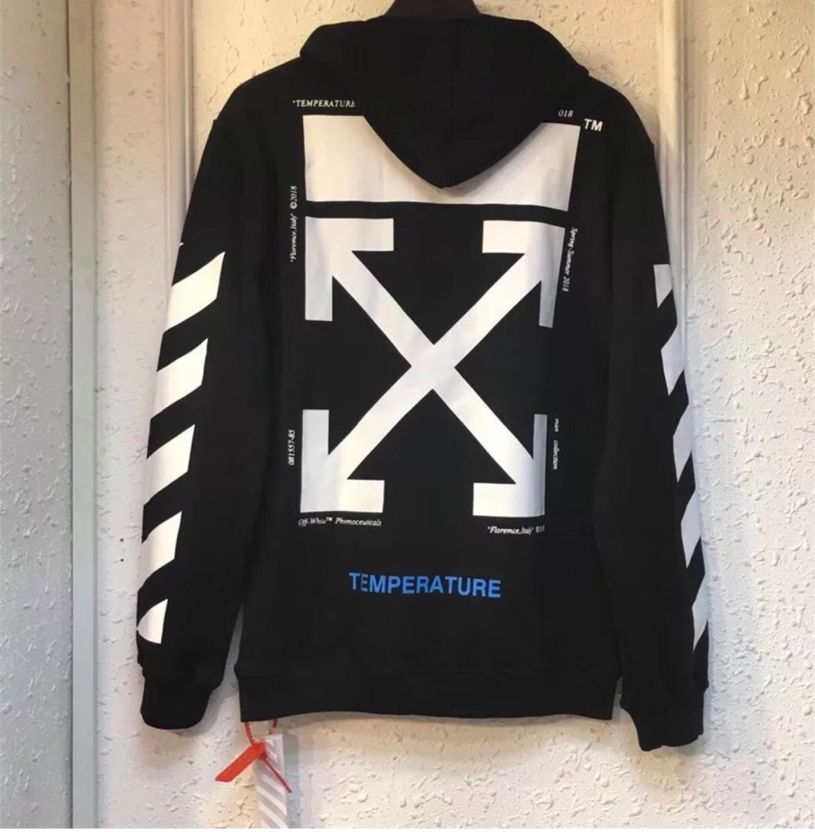 Off-white Galaxy Brushed Pullover Hoodie | Grailed