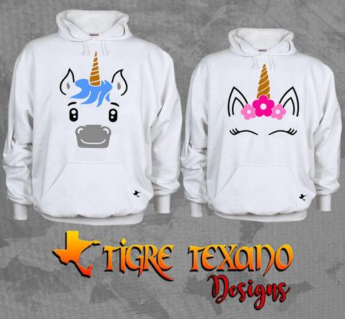 sudadera parejas unicornio envío gratis tigre texano designs