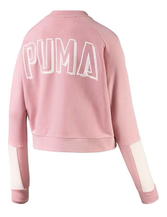 gran venta 06f4a 9a02c Sudadera Puma Athletics Bomber Rosa Mujer 830575 Original