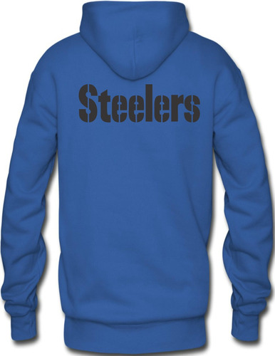 sudadera steelers nfl acereros hoodie capucha con cangurera
