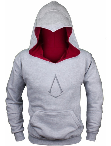 sudadera tipo assassin gray pull over envío gratis ! creed