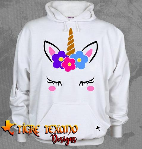 sudadera unicornio chapitas uni-04   by tigre texano designs