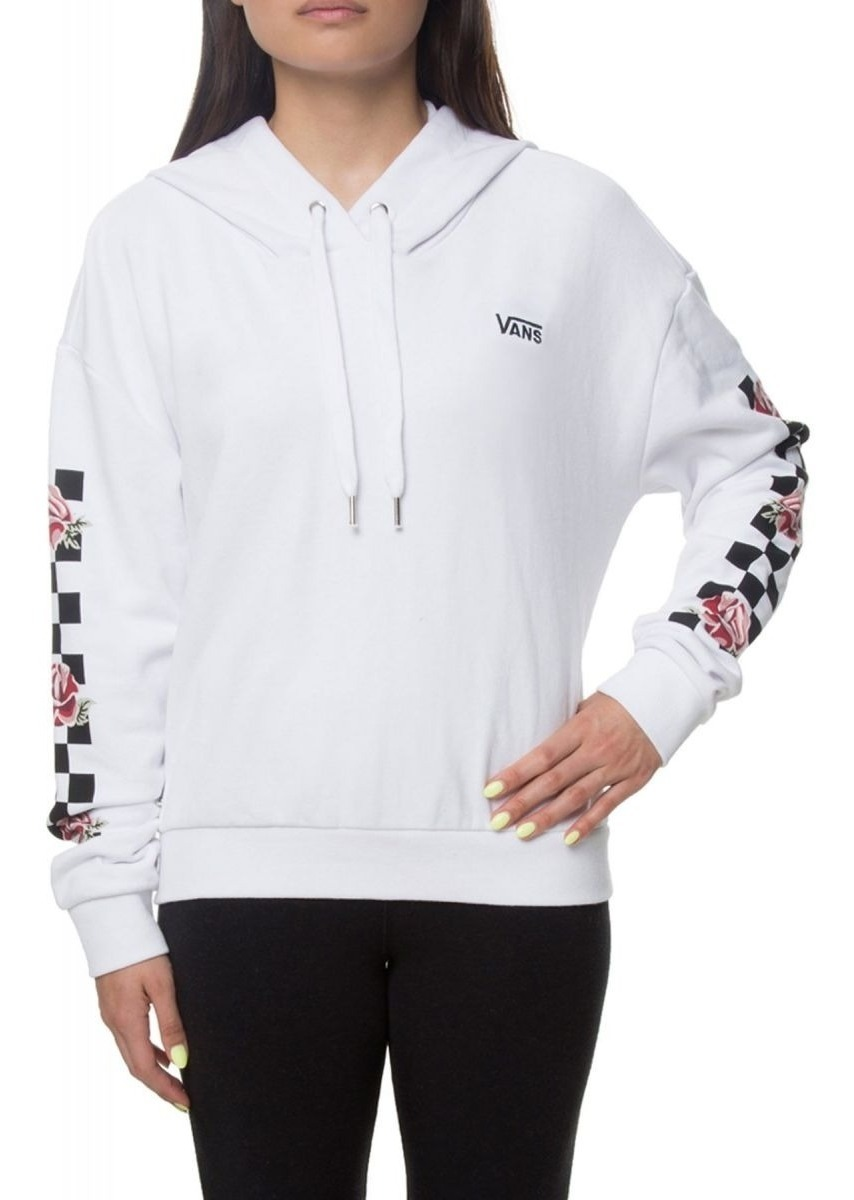 diseño atemporal 34daf d1304 Sudadera Vans Mujer Blanca Patchwork Checker Vn0a3pcnwht