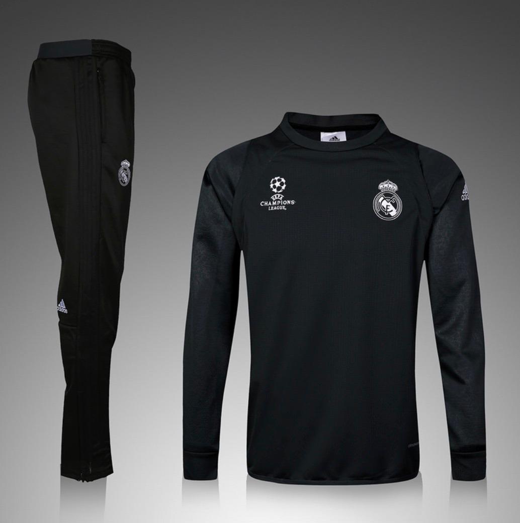 Sudadera Y Pants Real Madrid 2016-2017 Negro - $ 2,750.00 ...