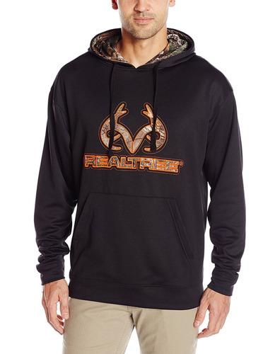 sudadera/hoodie con capucha realtree nerga con camouflage