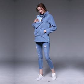 5a44f37bf Sudadera De Maternidad Para Mujer Kangaroo Azul S