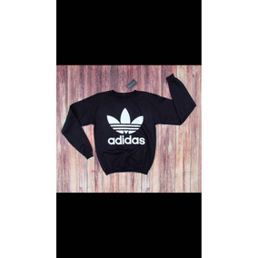 125d7b370eba7 Sueter Adidas Negro Con Blanco en Mercado Libre México