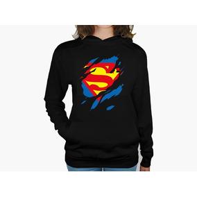 b55d8f71e5c01 Sudadera Mujer Superman Mod-5