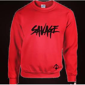 mejor lugar para colección completa super servicio Sudadera Savage - Sudaderas y Hoodies de Hombre Rojo en ...