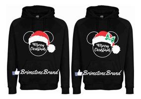 Santa Sudaderas Novios Mickey Navidad Para 2 Minnie Pareja rCQthdxBos